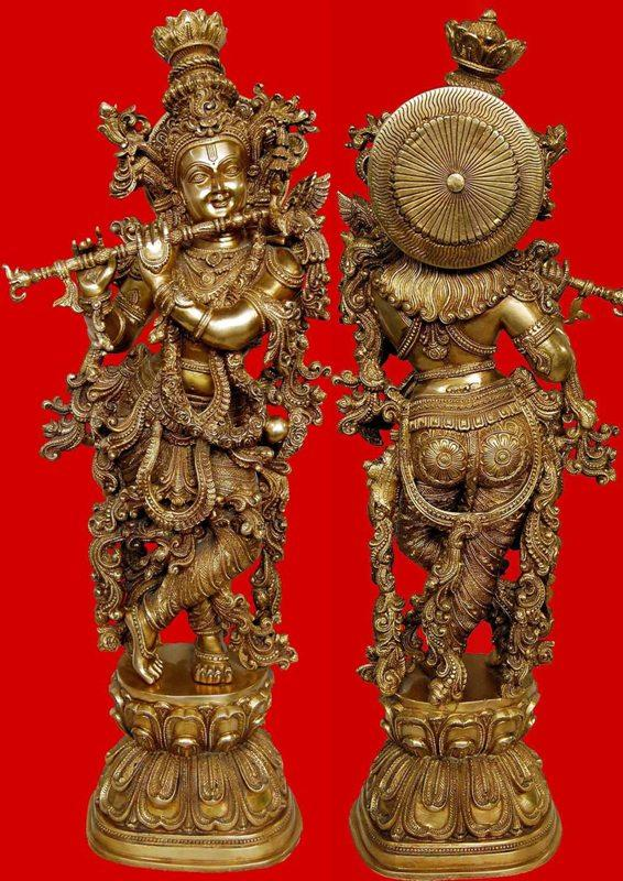 Aakrati Metal Brass Handmade Handicrafts Lord Radha