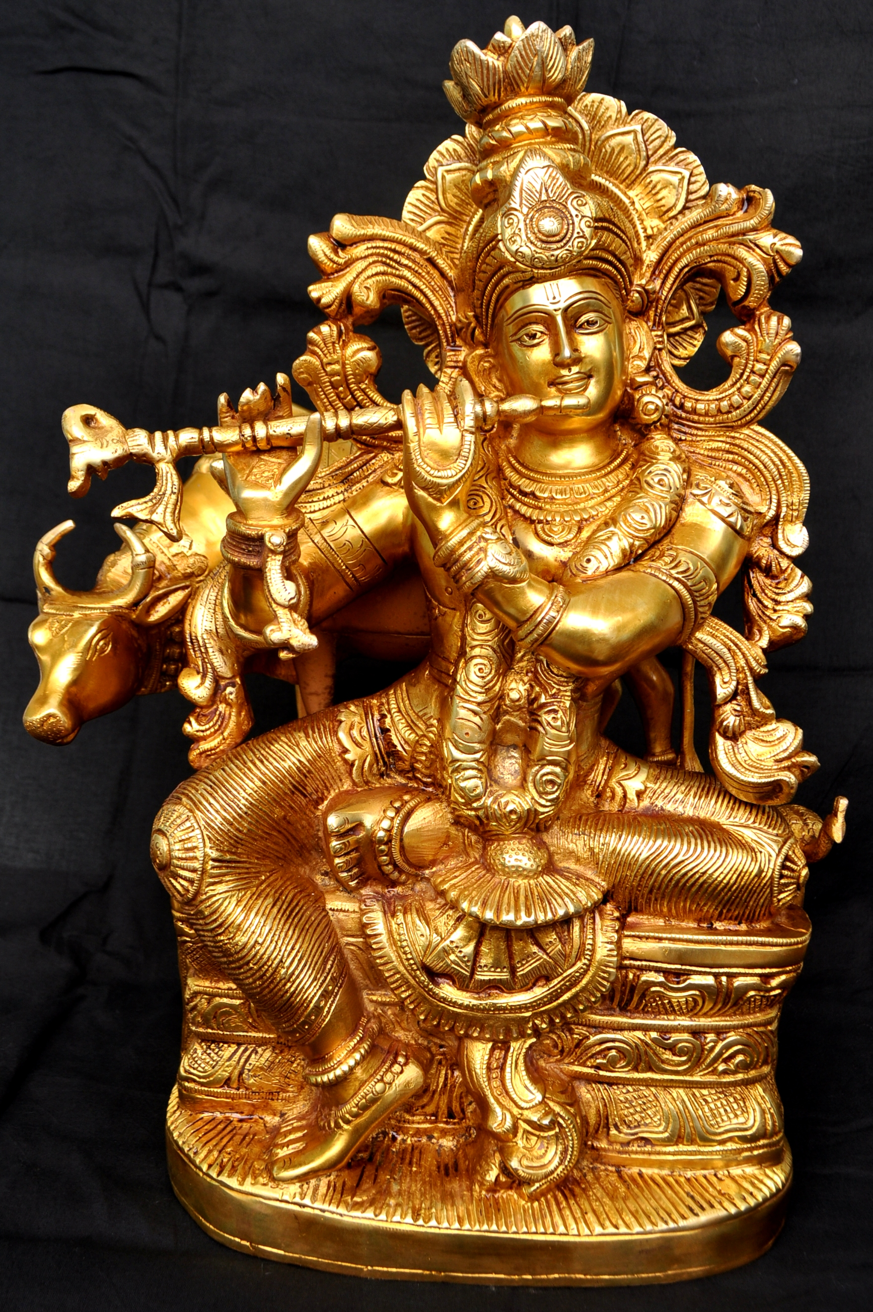 Lord Krishna Brass Metal Made Statue Sculpture Buy