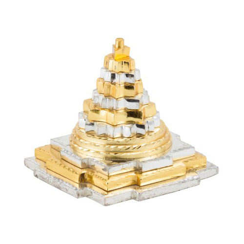 Aakrati Brass Silver And Golden Finish Pyramid Feng Shui
