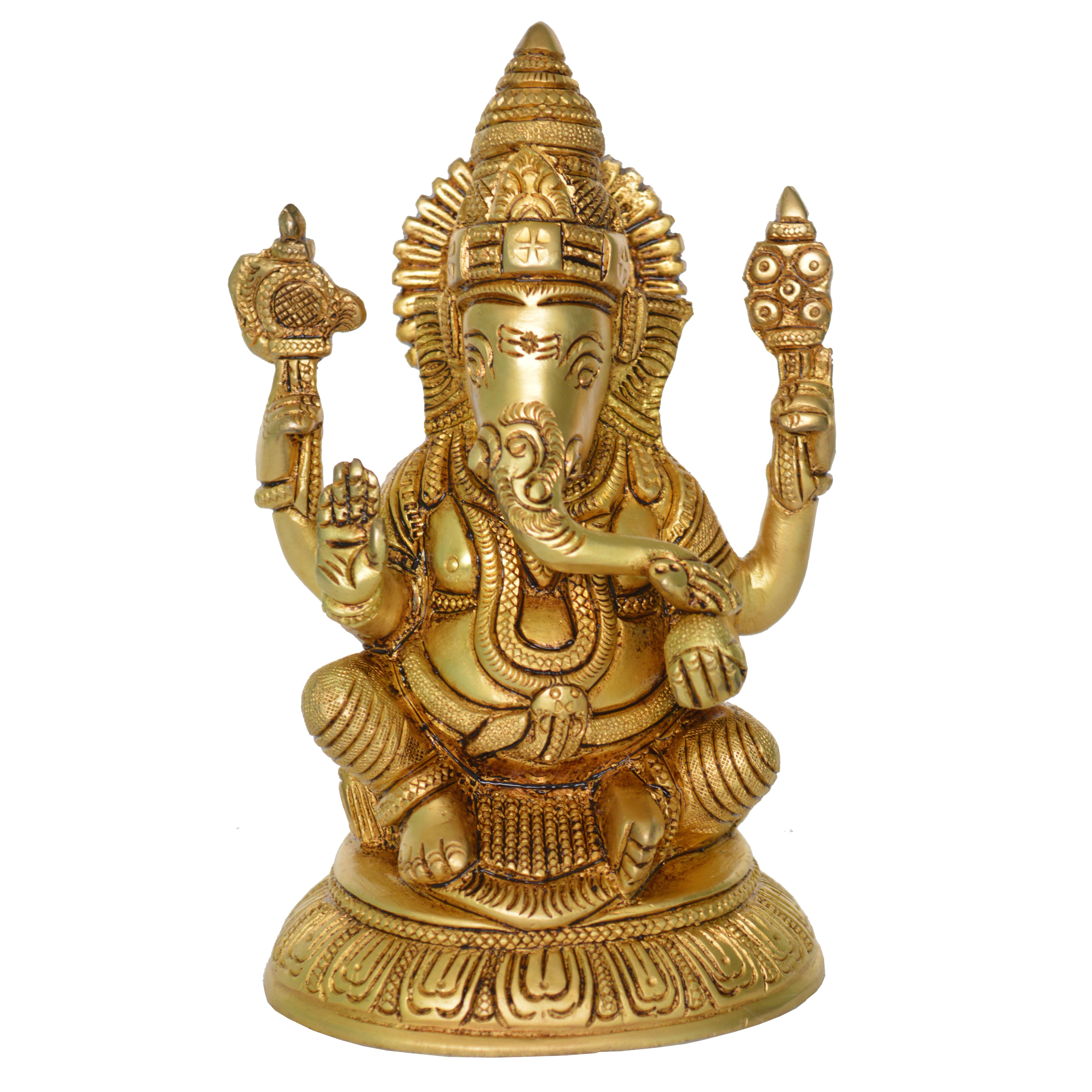 Statue of Lord Ganesha in Antique Finish - Buy Ganesh Online