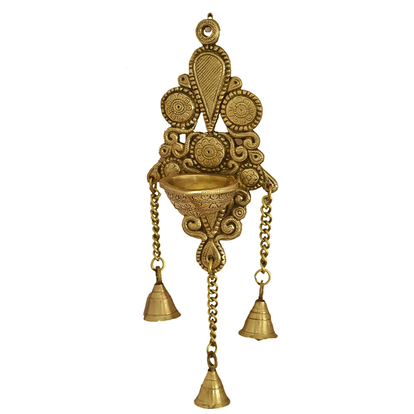 Aakrati Wall Hanging Deepak Also As Candle Stand With Bells