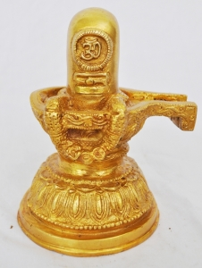 Brass Metal antique finish shined Shivling