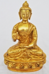 Lord Buddha marvelous hand made brass metal antique finish statue