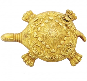 A Designer & Decorative Turtle Figure of Brass