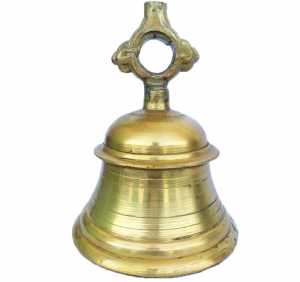 A Glorious and Nice Temple Bell in Antique Finish