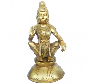 A Couragious Lord Ayappa Statue for Temple and Home Decor