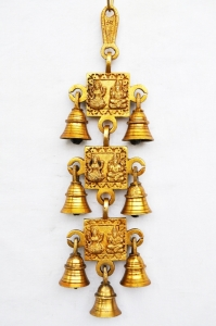Hanging bell brass made with 7 little bells