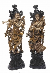 Temple Worship Radha Krishna Statue Sculpture Murti Murthi Decorative Figure