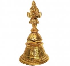 Designer Hand Bell of Brass For Temple
