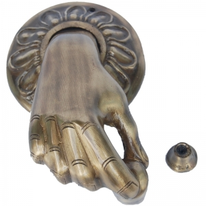 Aakrati Hand Shape Door Knocker Decorative Sculpture