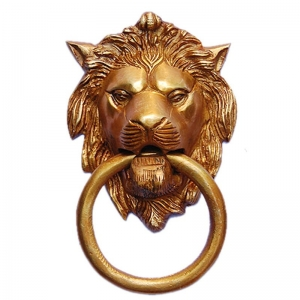 Aakrati Lion Face Door Knocker Brown