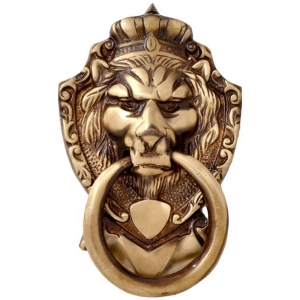 Aakrati Door Knocker of Lion Face Brown Finish unique hardware fitting