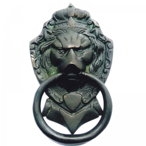 Aakrati Brassware Door Knocker of Lion Face - Meta Antique Finish Door Hardware Fitting Great Knocker for All Door - Unique idea for Gift
