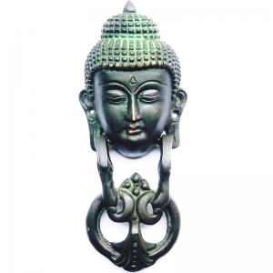 Metal Door Knocker of Gautam Buddha with antique finish