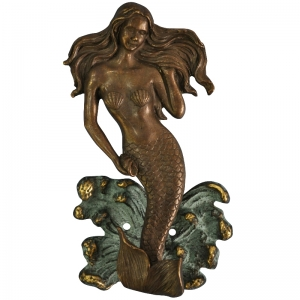 Mermaid Door Knocker Made in Brass Metal for Your Door