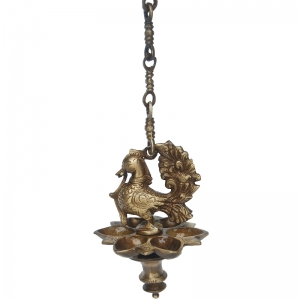 Religious worship hanging oil lamp by Aakrati