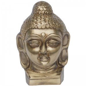 Aakrati- Lord Buddh face statue of Brass