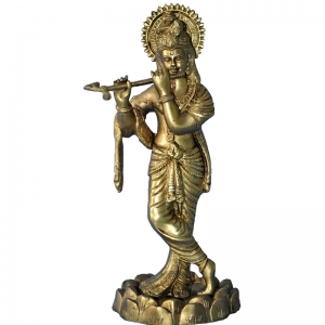 Handicraft Lord Krishna Statue of brass By Aakrati