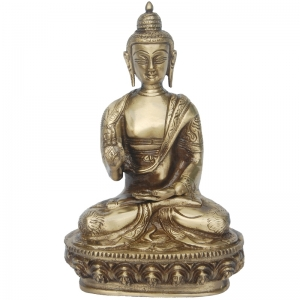 Lord buddha meditating Statue of Brass by Aakrati
