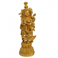 Brass Home Decor Metal Brass Staue Of Goddess Radha Ji By Aakrati