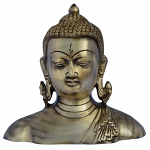 Peaceful Deity Lord Buddha Bust Decorative Corner Show Piece By Aakrati