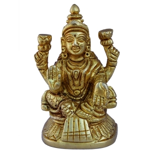 Goddess Lakshmi Statue in Yellow Finish By Aakrati