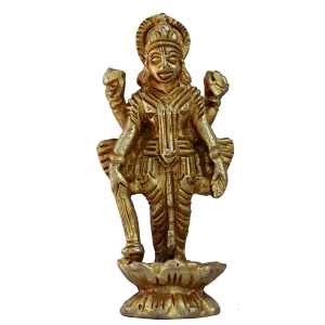 Lord Vishnu Sculpture Made of Brass By Aakrati