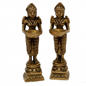 Deep Laxmi Set Made of Metal Unique For Decor and Temple