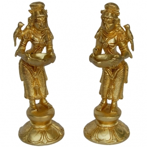 Aakrati Decorativ Deep Lady Set Of 2 Pieces Yellow