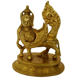 Kamdhenu Cow made in brass metal