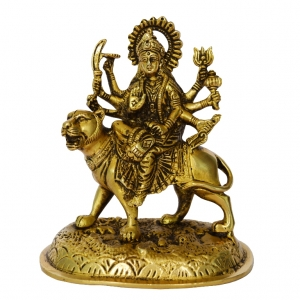 Goddess Durga Statue of Brass