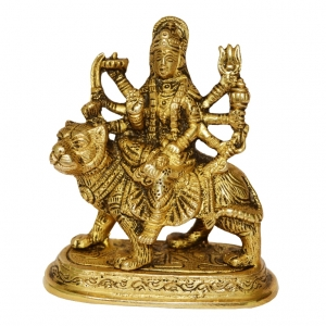 Durga Ji Statue Brass made Figure by Aakrati