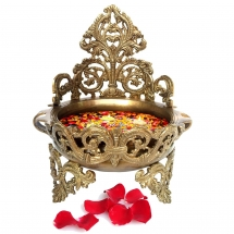Decorative Brass Urli - Floating Flower Pot 10.5 inch height