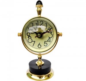 Moon Style 3 inch dia table clock for your drawing room