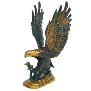 Aakrati Eagle Handicarted Statue Metal