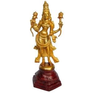 Goddess Lakshmi standing figure in antique finish rare gift