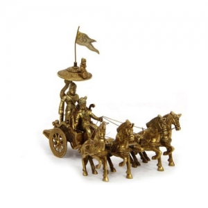 Decorative Brass Arjun Rath Four Horses
