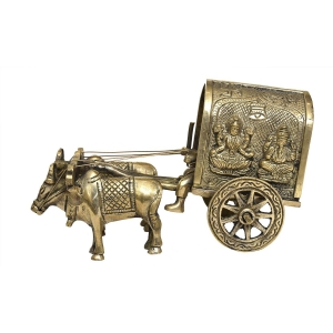 Brassware Bullock Cart For Home Decoration
