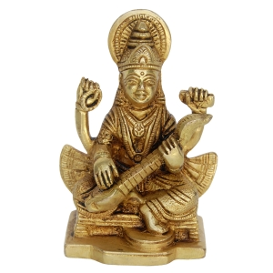 Set of Laxmi Ganesha Saraswati Brass Statue