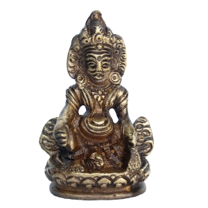 Lord of wealth Kuber Brass Statue