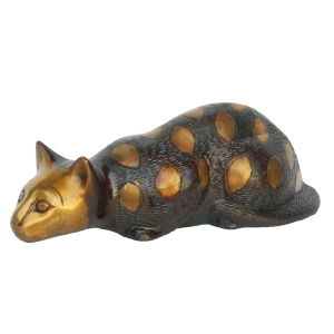 Lying Cat Home Decor Brass Sculpture