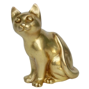 Brass Sitting Cat Statue
