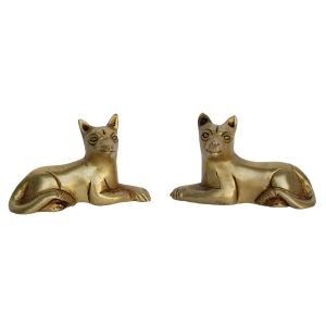 Small Brass Animal Fox Figurine