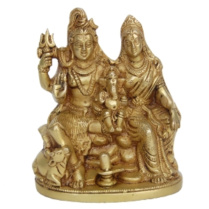Shiva Family Brass Satue for Home Temple