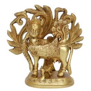 Unique Goddess Kamdhenu Brass Statue