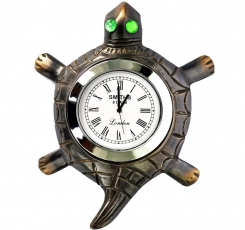 Table clock, Tortoise with stone eye  (antique Finish)
