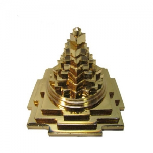 Golden Brass Pyramid
