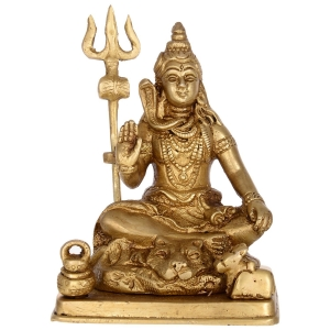 Lord Shiva Glorious Statue of Brass