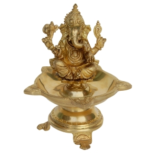 Diya/ Oil Lamp of Lord Ganesha
