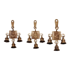 Set of Laxmi Ganesha Saraswati Single Hanging Bells